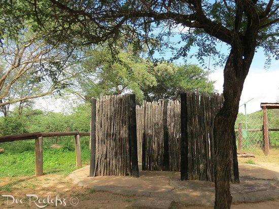 A-Frame - Outdoor Bush Bathroom - Picture of Khama Rhino Sanctuary ...