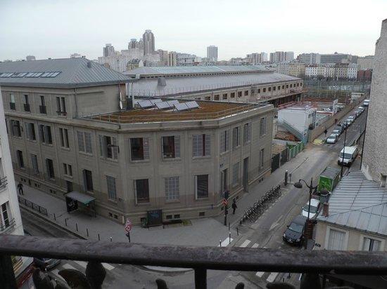 Hôtel de Bellevue Paris Gare du Nord  : vue de ma chambre