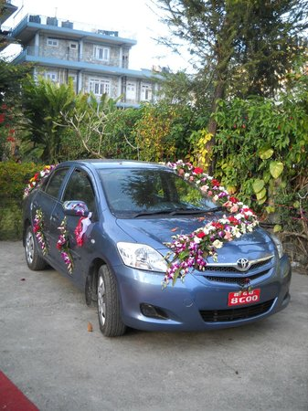 Hotel Tulsi Pokhara Pvt Ltd: The daughter of the owner of the hotel got married and this was the wedding car