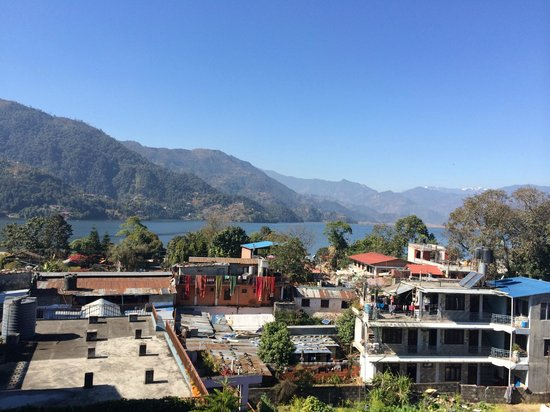 Hotel Tulsi Pokhara Pvt Ltd: View from rooftop restaurant