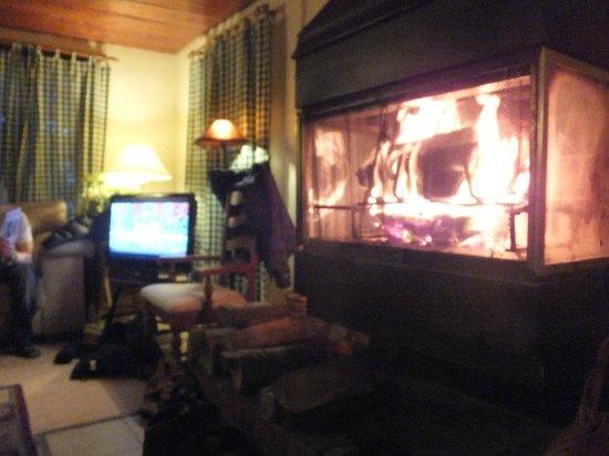 Riverside Inn: Lounge & fire