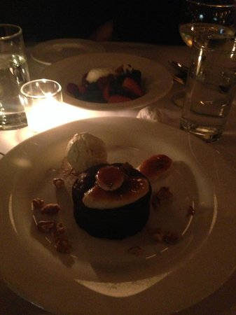The Odeon : Dessert. Opposite my friend had a heavenly berries with cream. I forgot what I had