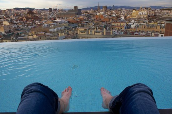 Andante: Rooftop pool (which was very cold in January!)