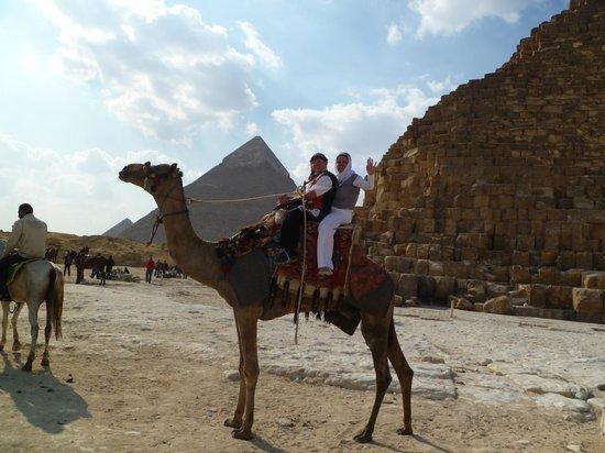 Plateau de Gizeh : Vor den Pyramiden