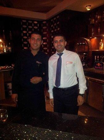 White Elephant Thai Restaurant and Sushi Bar: Akram & Ahmed