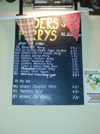 The Old Poets' Corner: Cider list