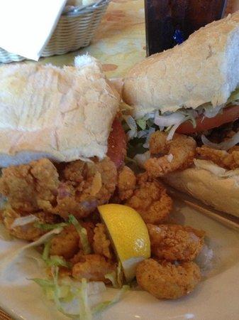 Grand Victorian Bed & Breakfast : Shrimp Po-Boy Sandwich - Magazine Street
