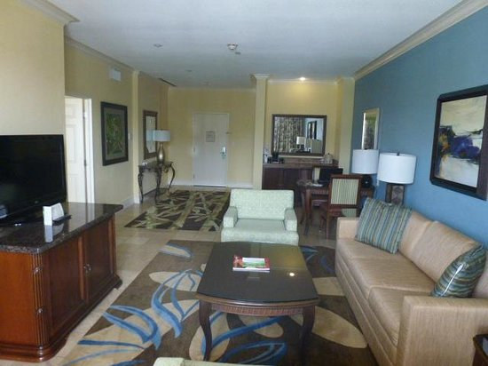 St. Kitts Marriott Resort & The Royal Beach Casino: living area of suite #521