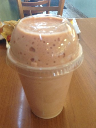 Tropicana Bakery and Cuban Cafe: Fruit drink with milk & a Cuban fruit; not sweet enough