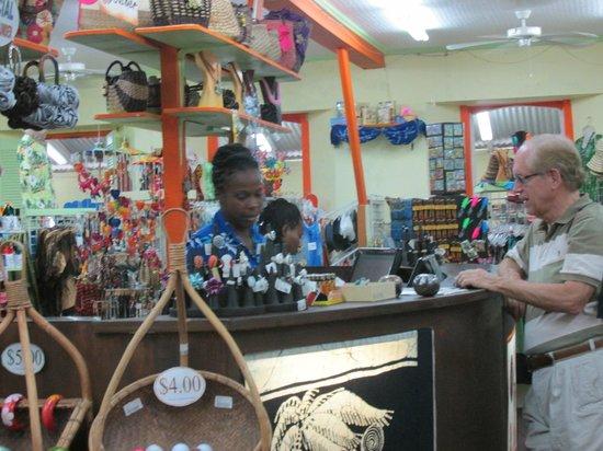 Caribelle Batik: Cashier's stand