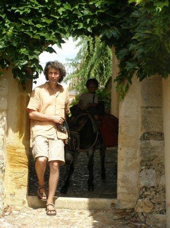 Fenêtre sur Loire : la poterne à Semur en Brionnais