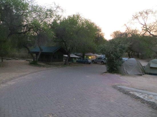 Skukuza Rest Camp : Vue sur la partie camping