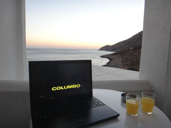 "Delfini Hotel Sifnos: Enjoying the ""view""."