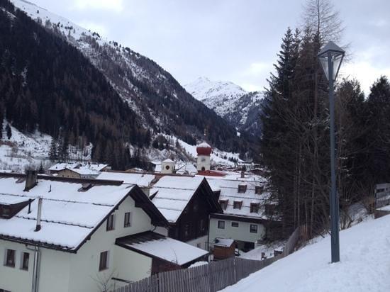 Hotel Arlberg: st Anton from above the Arlberg Hotel