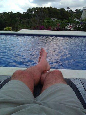 Villas Agua Dulce : Enjoying the pool outside our Villa.