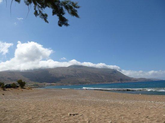 Balos Beach: ganz hinten.....in einer grandiosen Landschaft gelegen...