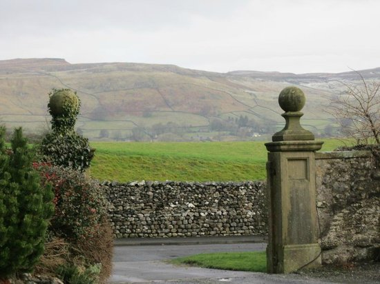 The Traddock: View of Dales from Hotel Entrance