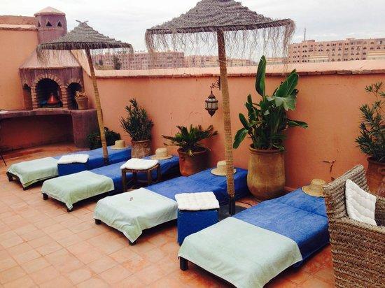 Riad Les Lauriers Blancs : Terrace