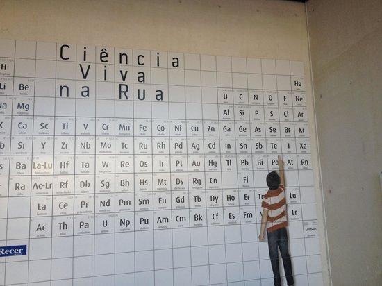 Pabellón del Conocimiento (Ciencia Viva): Tabela periódica exposta!!!