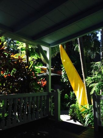 The Mermaid & The Alligator: porch of the Bamboo Room