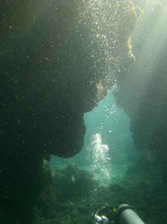 Bananarama Dive Center: The photo does not do justice to the interplay of light and water here