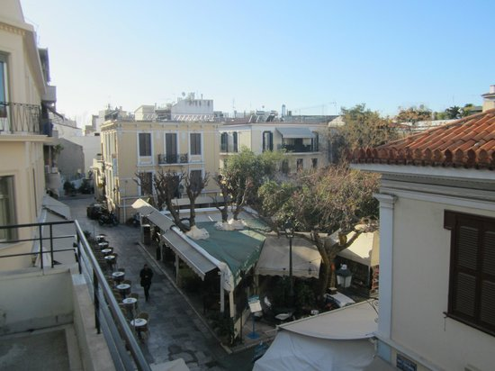 The Student & Travellers Inn: view from the balcony of my room