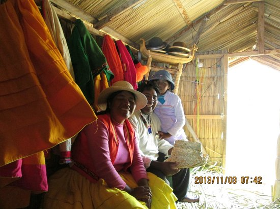 Uros Floating Islands: Inside one of the huts.