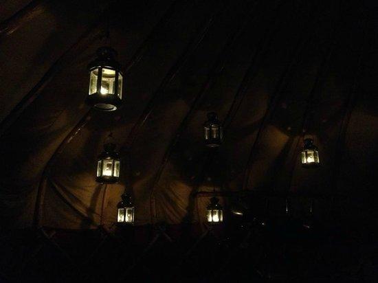 Yurtworks: yurt lit by tea lights