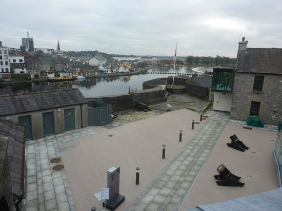 Athlone Castle: View of Athlone  and the River Shannon from the Castle Walls