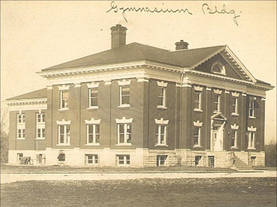 Missouri Civil War Museum: Earliest known photo (ca.1905-1910) of the 1905 Jefferson Barracks Post Exchange Building, now t