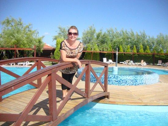 Grand Hotel Temizel: Piscina caminho para praia