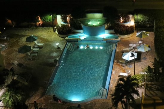 Embassy Suites by Hilton Tampa - Airport/Westshore: Pool in the night