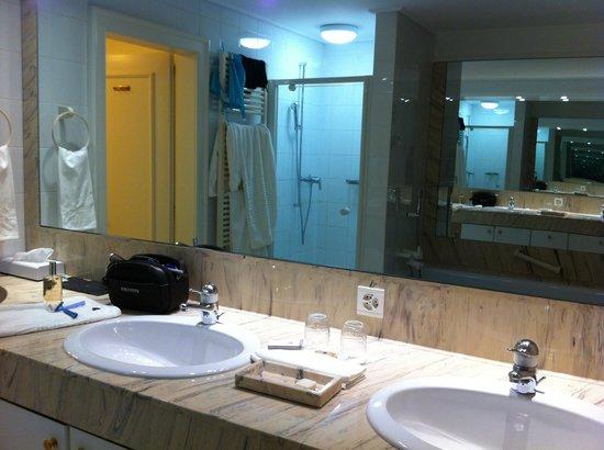 Hotel Les Sources des Alpes : Salle de bains