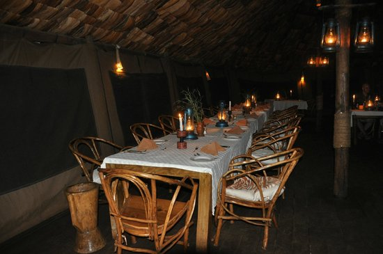 Crater Forest Tented Lodge: romantic dinner