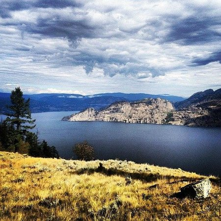 Wildhorse Mountain Guest Ranch : Okanagan Lake. One of the many beautiful views at the Ranch from Wildhorse Mountain.