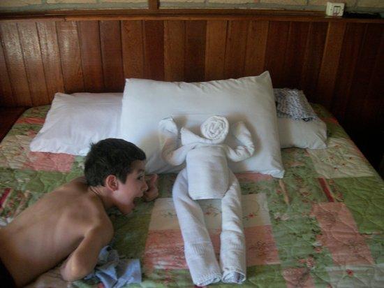 Hotel Pousada Silene: Cambian las toallas a diario, de una manera muy creativa
