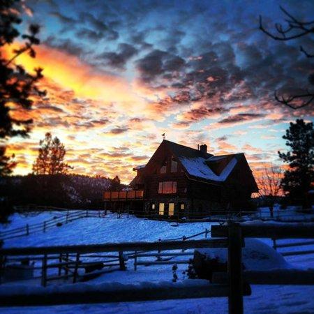 Winter wonderland at Wildhorse Mountain Guest Ranch.