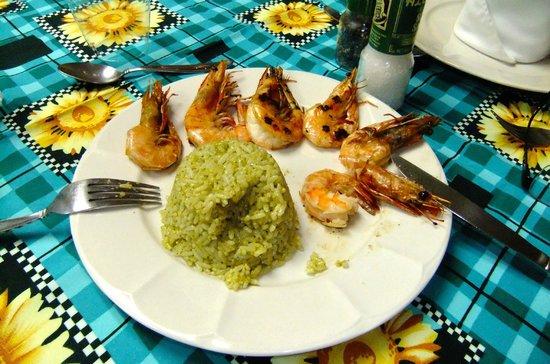 Restaurante El Patio: Grilled shrimp