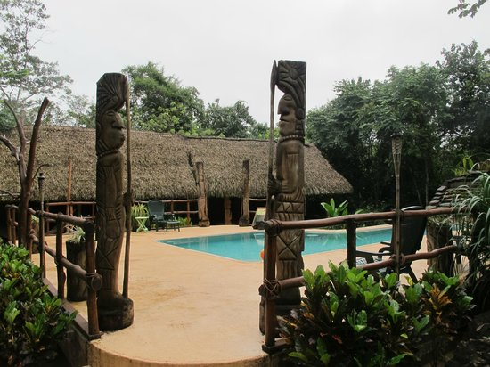 Mariposa Jungle Lodge : Swimming pool and leisure area (hammocks,etc.)
