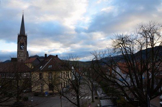 Hotel Gasthaus Hirsch: Vista dal balcone della stanza