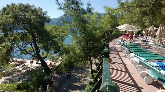 Marmaris Park Hotel: deck bar area