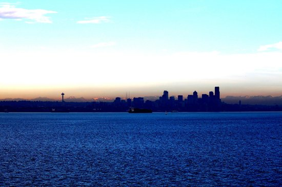 Ride the Ducks of Seattle: skyline from the lake