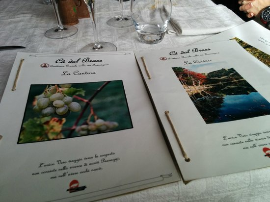 Ca' dal Brass: Menù e carta dei vini