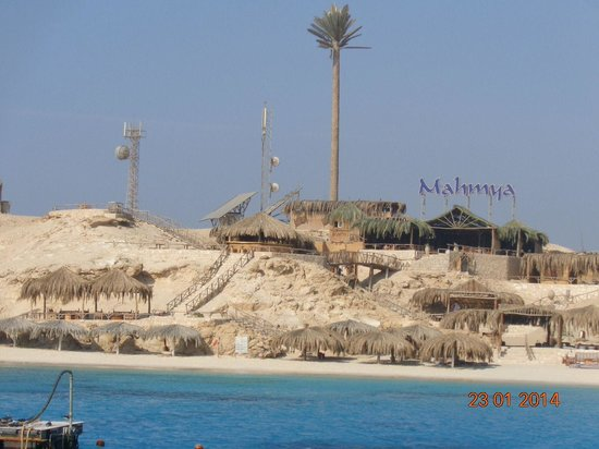 Mahmya Island : View from the boats on approach