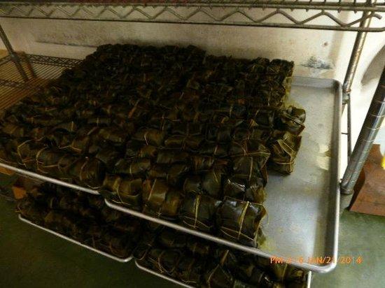 Ka'aloa's Super J's: Laulau waiting to be cooked