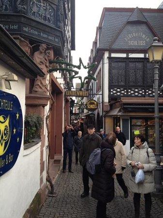 Rhein: pretty Rudesheim