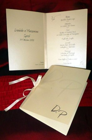 Il laghetto living: The wedding menu