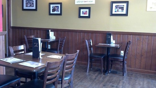 Tony's Seafood Restaurant : Inside front area seating