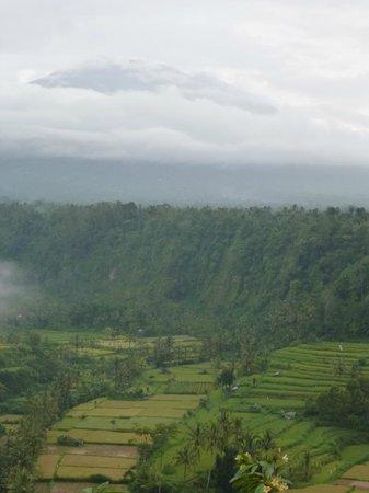 Lereng Agung: volcan