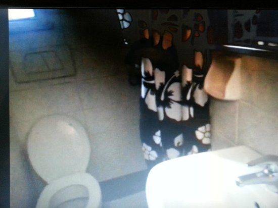 Hotel Planet Roma: Bagno (foto presa da video personale)